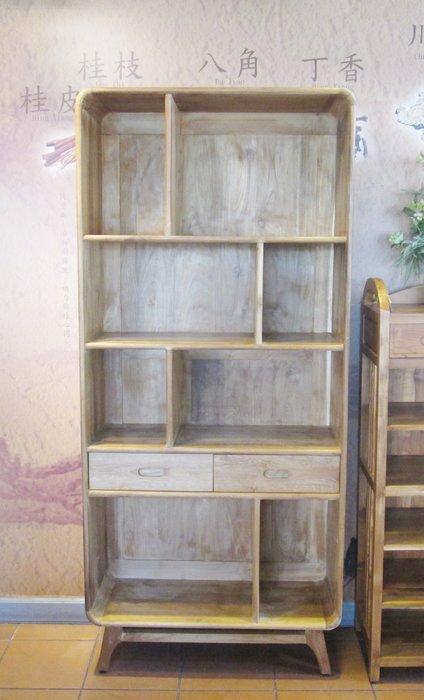 【肯萊柚木傢俱館】100%老柚木無上漆全實木 手工製作 書櫃 展示櫃 限量商品