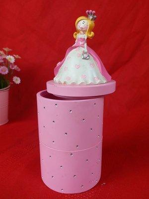 紅牡丹精品 飾品盒 公主粉紅色小物盒