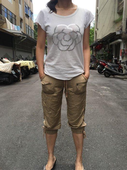 全新日本109品牌Mimily--Cecil Mcbee副牌-七分褲/綁帶鬆緊帶麻紗休閒褲Vivi