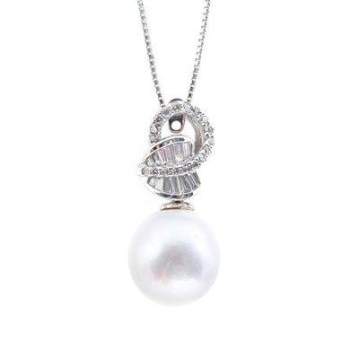 【JHT 金宏總珠寶/GIA鑽石專賣】天然珍珠鑽墜/材質:14k(PP00047)