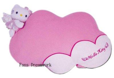 【卡漫迷】Hello Kitty 雲形 小抱枕 ㊣版 午休枕 午睡枕 午安枕 靠墊 車用靠腰枕 頭枕 ~ 360 元