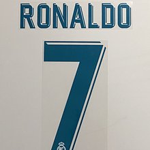 皇家馬德里 Real Madrid 17-18 Home C Ronaldo Name & No