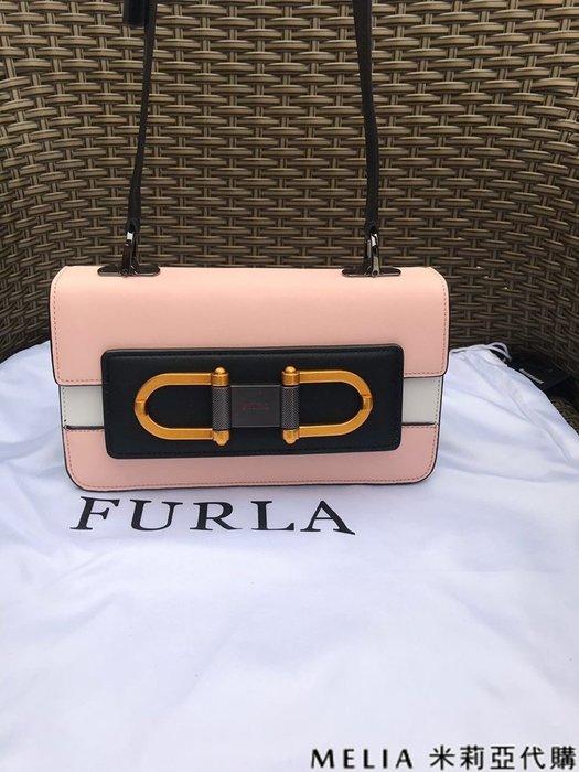 Melia 米莉亞代購 商城特價 數量有限 每日更新 FURLA 獨家首賣 單肩斜背包 拚色小號 粉色
