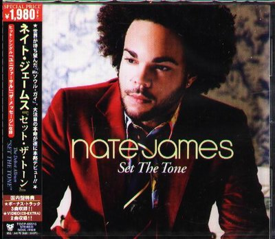 K - Nate James - Set the Tone - 日版 CD+2VIDEO+3BONUS - NEW