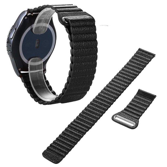 三星Samsung Galaxy Watch 42MM 錶帶 真皮腕帶 回环磁力 20mm接頭 替換腕帶 時尚簡約