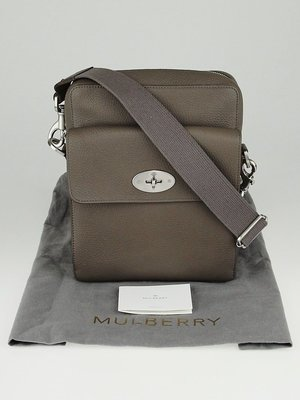 Mulberry Leather Messenger Bag