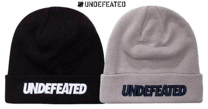 【超搶手】全新正品 最新款 UNDEFEATED X NEW ERA BEANIE 立體刺繡 反摺 毛帽 黑色 灰色
