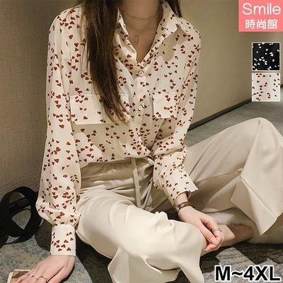 【V2995】SMILE-港味元素.滿滿愛心長袖襯衫上衣