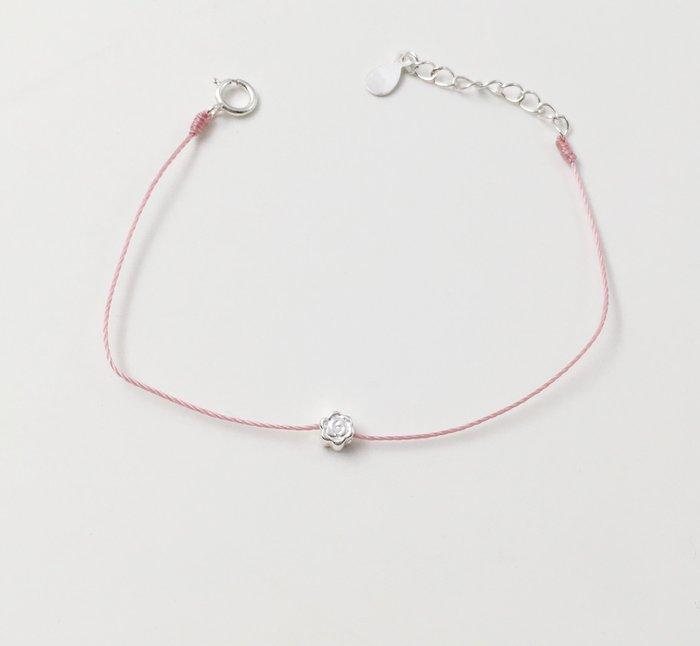 [Le Bonheur Line] 幸福線 手工/925純銀 玫瑰/手鍊 redline 紅線 銀飾 超小 迷你 低調