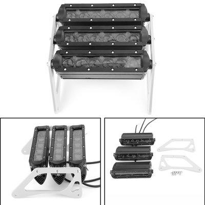 《極限超快感》Honda Grom 125 MSX SF 13-19 改裝大燈(3白燈燈條+2銀色支架片 套組)