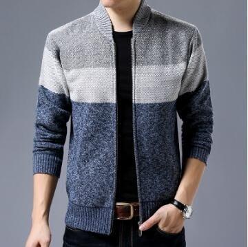 針織外套 秋冬季新款男士毛衣男青年加絨開衫男裝大碼韓版潮針織開衫
