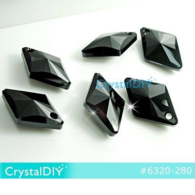 施華洛世奇水晶吊墜#6320菱形水晶吊墜_黑寶石27mm 新品_低調奢華 單顆
