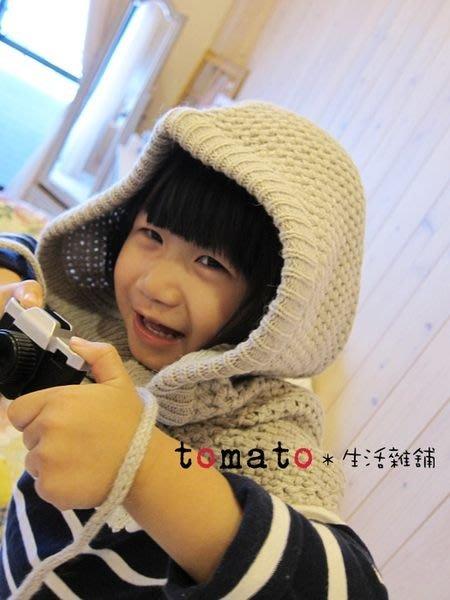˙TOMATO生活雜鋪˙韓國進口正韓雜貨連帽釦子拉繩粗針小披肩圍巾