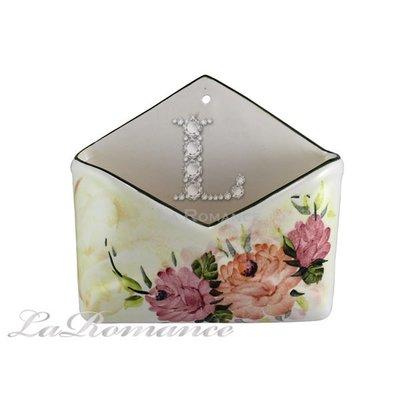 【芮洛蔓 La Romance】義大利 Ceramiche Fabbro 手繪粉玫瑰信箱 - 小 / 花架 / 手繪信箱盒