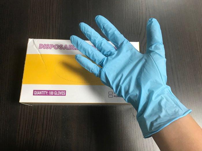 【無敵餐具】NBR藍色中薄無粉手套(S~L)檢驗/手術手套/作業手套/耐油手套【CH071】