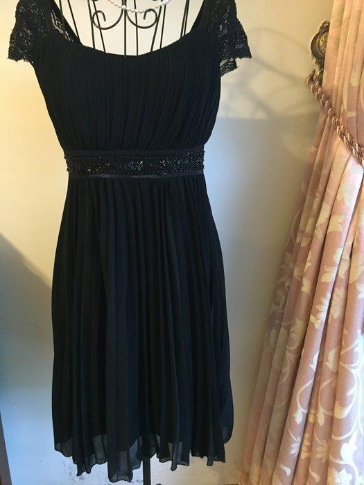 約會首選 - 黑色雪紡洋裝 - 送同款小外套(買一送一)