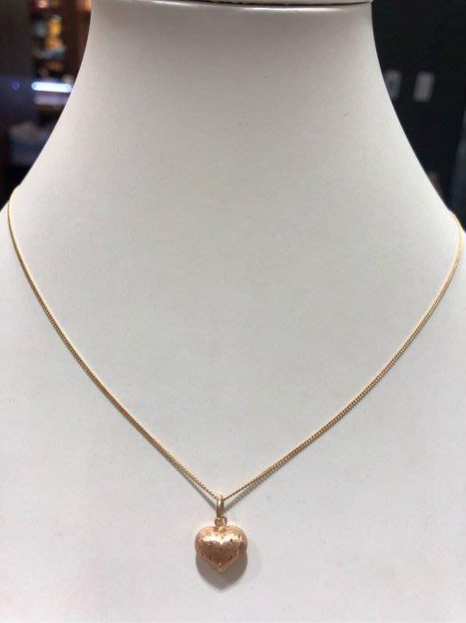 日本18K金小套鍊,玫瑰金雙色愛心款式,小巧可愛,適合年輕女生佩戴,超值優惠價4880