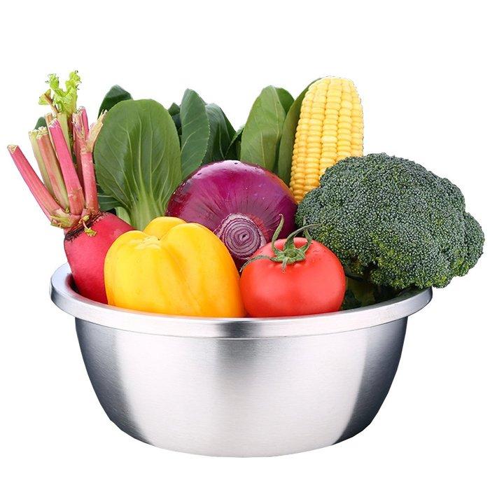 廚房用品加厚304不鏽鋼調料盆調味缸洗菜盆和麵盆打蛋盆(30cm)D188-1