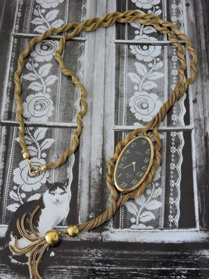 原裝真品 德國 STOWA 史都華 歐洲古典流蘇手上鍊機械古董項鍊錶 女錶