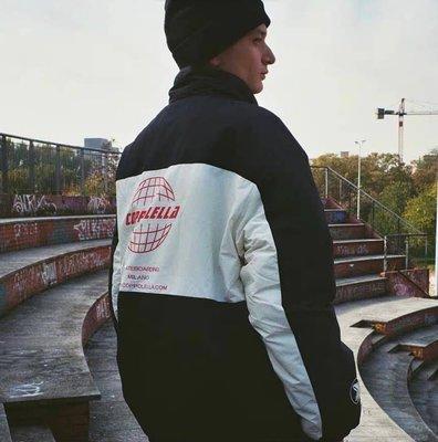 [FDOF] COPPOLELLA SKATEBOARDING DOWN JACKET米蘭街頭滑板品牌小恐龍3M黑白拼色