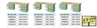 [家事達]台灣 TANKO-WAD-77041W 雙櫃型重量型工作桌-原木桌板 特價