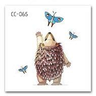 【萌古屋】刺蝟單圖CC-065 - 防水紋身貼紙刺青貼紙K37
