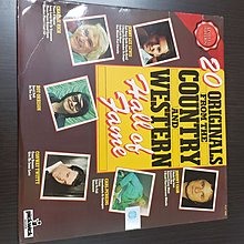 20 ORIGINALS FROM THE COUNTRY AND WESTERN HALL OF FAME lp 英文黑膠唱片SL004