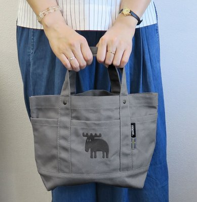 =M.N.S=⭐️灰色現貨在台⭐️日本進口 北歐雜貨moz 帆布袋/手提袋 麋鹿 聖誕節 交換禮物