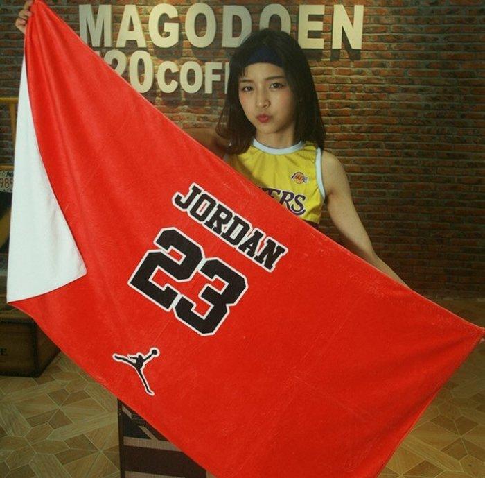 『運動毛巾100X35cm』潮牌芝加哥隊23號JORDAN籃球運動方巾毛巾浴巾
