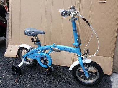 免運+4大贈品【OYAMA】歐亞馬JR200 12吋高碳鋼折疊車(藍色)(從小騎到大的折疊車)-【台中-大明自行車】