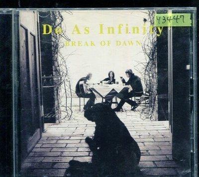 *還有唱片行* DO AS INFINITY / BREAK OF DAWN 二手 Y3447