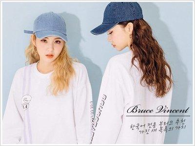 BV布魯斯 {P81} 韓國限定版質感高磅數素色丹寧牛仔老帽棒球帽 3色現貨+預購