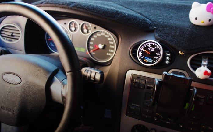 【精宇科技】Ford Focus MK2 冷氣出風口 油壓 油溫 水溫 電壓 渦輪 錶座 52MM 60MM OBD2
