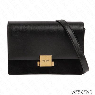 【WEEKEND】 SAINT LAURENT Medium Bellechasse YSL 皮革 麂皮 肩背包 黑色