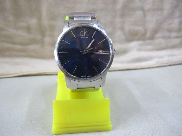 二手舖 NO.4016 Calvin Klein CK 手錶 電光藍面 時尚潮流石英錶 保證正品  二手