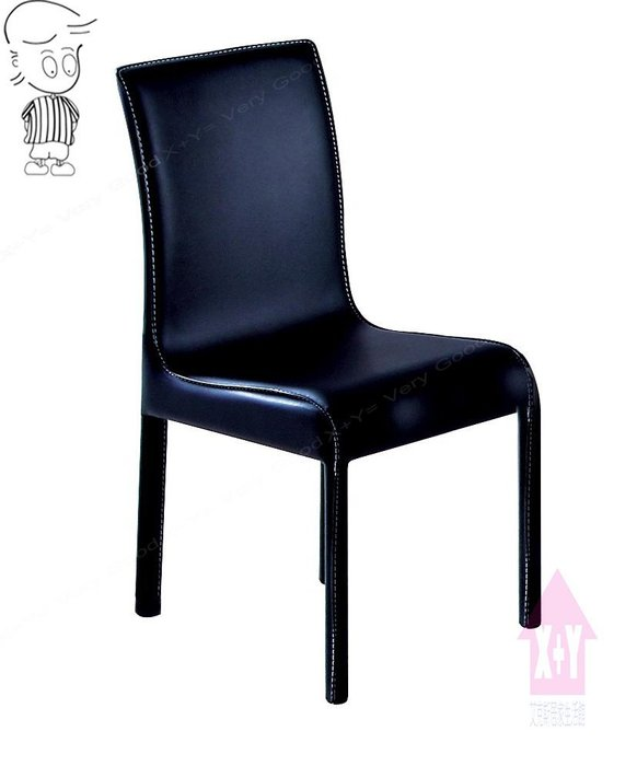 【X+Y時尚精品傢俱】現代餐桌椅系列-優雅姿態 黑色餐椅.適合餐廳.學生椅.化妝椅.摩登家具