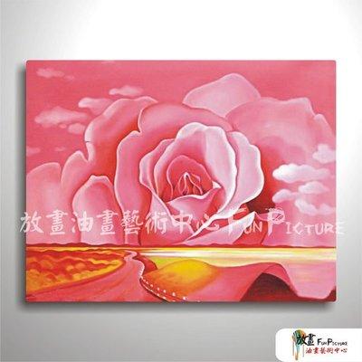 【放畫藝術】花卉F18 純手繪 油畫 橫幅 粉紅 暖色系 藝術品 裝飾 畫飾 無框畫 民宿 餐廳 裝潢 室內設計