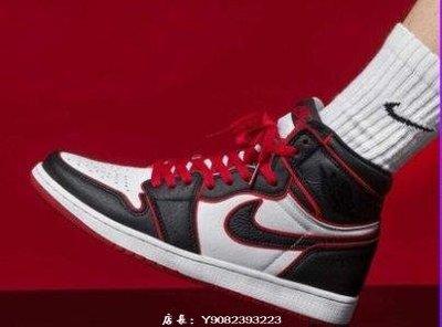 """Air Jordan 1 """"Meant To Fly"""" 黑白紅 紅外線 皮面 高筒 籃球鞋 555088-062 男鞋"""