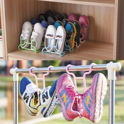 【可愛村】多功能可立可掛兩用式兒童鞋架 2入組 童鞋 鞋掛 空間收納 鞋櫃