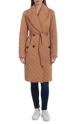 Water Resistant Quilted Double Breasted Trench Coat AVEC LES