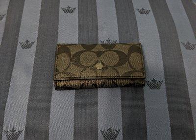 『BAN'S SHOP』COACH 26104 C LOGO PVC 鑰匙包 黑色 中性 美國購回 保證真品 全新