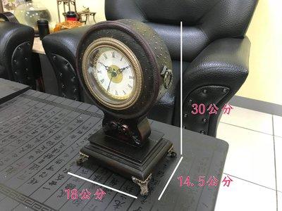 老上海、民宿~鴕鳥皮紋復古時鐘.座鐘.仿古設計.宮廷古董鐘.靜音鐘.數量有限! 只要329元