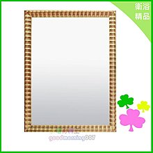 ☆水電材料王☆ 金塊木框鏡 浴室 廚房 收納 精品 【C076】