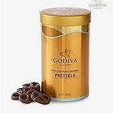 Godiva milk chocolate mini pretzels chocolate牛奶朱古力蝴蝶餅