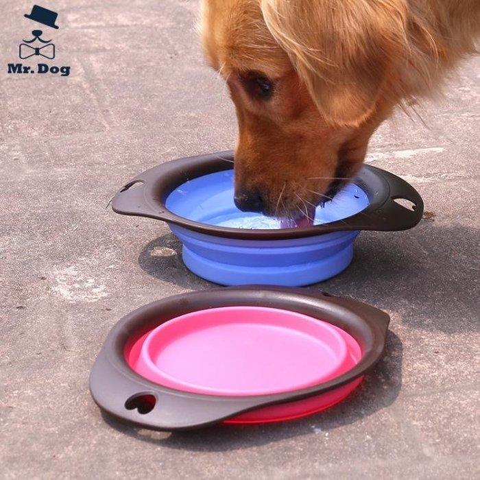 高品質 無毒寵物戶外摺疊碗 便攜式摺疊狗食盆水碗 外出狗碗