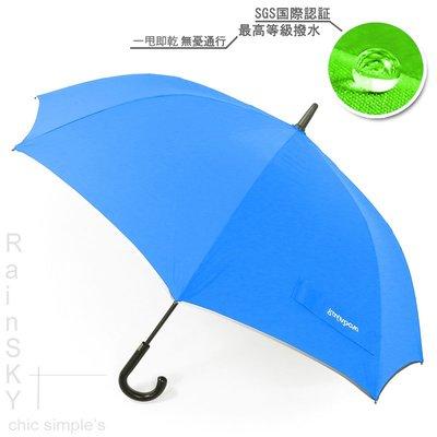 【RainSky雨傘】SWR-45吋_嵌入式直立機能傘(晴藍) /  雨傘自動傘防風傘大傘抗UV傘直傘撥水傘防潑傘(免運) 新北市