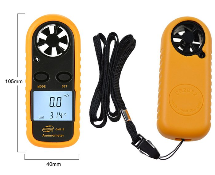 *蝶飛*公司貨 有發票 便攜口袋型 袖珍型風速計 GM816 風速儀器 風溫計 風速表 測量風速 風速