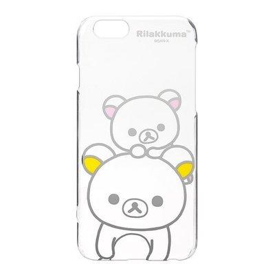 尼德斯Nydus~* 日本正版 San-X 拉拉熊 懶懶熊 透明硬殼 手機殼 大臉款 4.7吋 iPhone6