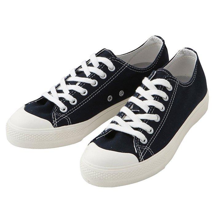 TAKI MAMA 日本代購 無印良品帆布鞋-深藍色 女鞋 百搭 預購中 日本尺寸22cm 24.5cm 尺寸最齊全
