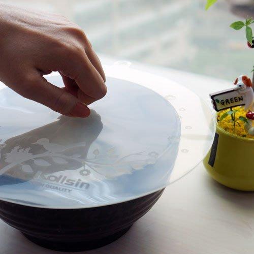 【矽膠保鮮蓋(大)】台灣製造 耐熱矽膠保鮮蓋 蓋子 鍋蓋 PJ2016[金生活]